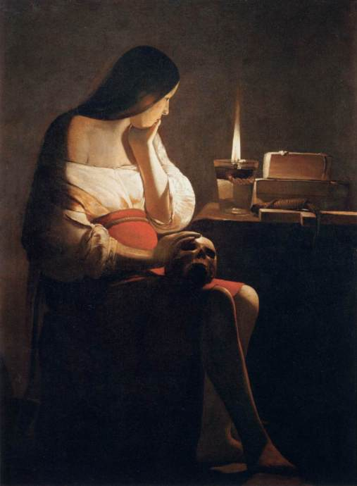 Mary Magdalene by the 17th century French painter Georges de la Tour