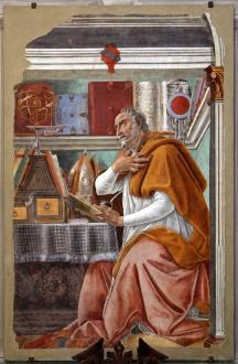 Sandro_botticelli,_sant'agostino_nello_studio,_1480_circa,_dall'ex-coro_dei_frati_umiliati,_01